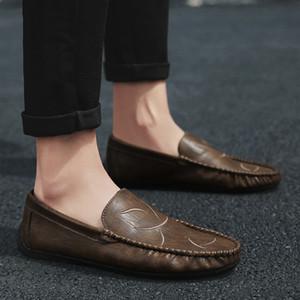 Hot2019 Doug Homme Chaussures Saison Personnalité Angleterre Tendance Coiffure Division Loisirs Temps Chaussures en cuir