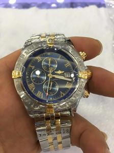 Assista Stanless aço 42 milímetros de luxo para homem Alta Qualidade de Ouro Relógios fosco de alta qualidade VK Chronograph Movimento Quartz Homens relógios desportivos