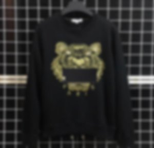 Marka Mektupları Tasarımcı Streetwear Jogger ile Yeni Marka Kapüşonlular Erkek Tişörtü Kaplan Kafa Nakış Kış Çift Hoodie Giyim Tops