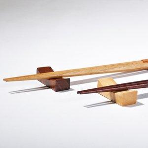Japanese Eco Cooking Utensils Wooden Chopsticks Holder Phoebe Creative Decorative Chopsticks Pillow Care Chopstick Rest LX1315