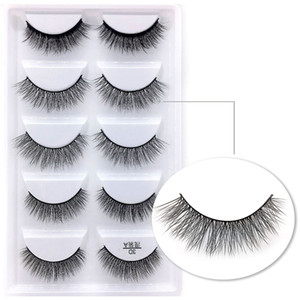 mélanger a-f 6 Style Multipack False Eyelash 3D cils de vison doux Wispy Long Faux Cils Maquillage des yeux naturel Faux Eye Lashes en gros