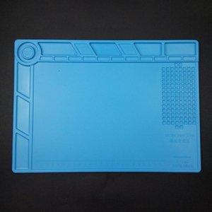 Desktop Heat Insulation Phone Maintenance Tablet Repair Soldering Platform Work Mat Silicone Magnetic Antistatic Blue Pad Soft