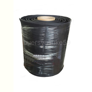 25M Diameter 180mm Flat Width 285mm Black Heat Shrinkable Tube Electrical Sleeving Cable Heat Shrink Tubing Wrap 2:1 Shrink Ratio Wholesale