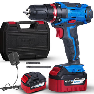 Lingming 12,6 volts broca Lithium-Ion Hammer and Impact driver doméstico recarregável Max Power Tool Combo Kit com 24pcs accessorie