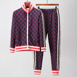 Mens Tracksuits For Men 2020 Designer Coats Tops&Pants Suits Logo Fashion Autumn Cardigan Men Hoodies Sweatshirts Zipped Mens Clothing