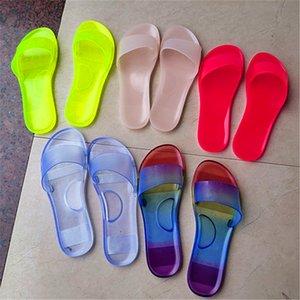 Women Crystal Sandals Summer Slippers Solid Color Flip Flops Fashion Platform Flat Slide Slipper Outdoors Beach Home Shoes Best New