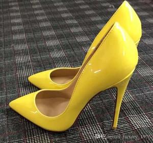 Hot Sale-2019 HOT Shoes Red Bottoms Salto Alto Sexy Sapato de bico fino Red Sole 8 centímetros 10 centímetros 12 centímetros Bombas Come With Logo poeira sapatos sacos de casamento
