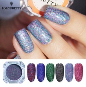 1 Box 1.5g BORN PRETTY Starry Nail Power 9 Colors Holographic Laser Nail Glitters Dust Manicure Art Glitter Decorations