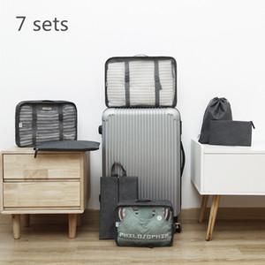 7pcs set Travel Underwear Storage Bag Travel Luggage Organizer Bags Shoes Pouch Suitcase Wash Storage Bag