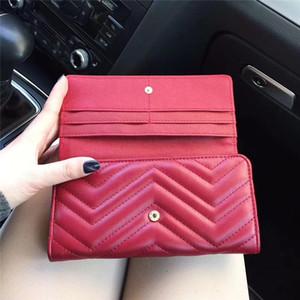 클래식 인간형 패턴 디자이너 지갑 여성 긴 지갑 퀼팅 가죽 사각형 적용 대상 지갑