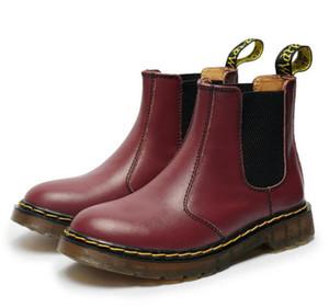 Venta caliente-¡Caliente! invierno Nuevas botas unisex martin 34-46 zapatos antideslizantes con cordones botas de cuero genuino zapatos con cordones de suela de vaca para hombres
