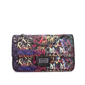 Bolsos de hombro de la moda de alta calidad del bolso del color del caramelo de graffiti Crossbody bolso de las mujeres bolsas libres del envío viajan