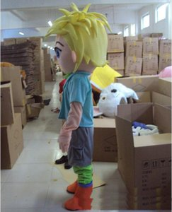 2018 factory sale new Mascot Costume Adult Character Costume mascot As fashion freeshipping Yellow hair boy