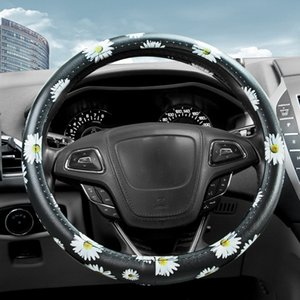 The new daisy sun flower car steering wheel cover creative handlebar cover adapts to the steering wheel diameter38cm