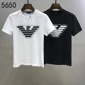 2020Europe y América de los hombres de la camiseta ocasional de O-Cuello de la impresión de los hombres de la camiseta de la moda de alta calidad Marca SHORTSLEEVE camiseta tamaño M-XXL ES9