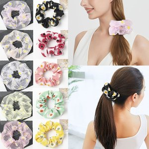 13 style Little Daisy Imprimer Bandeaux Grand Intestin cravate cheveux Cordes élastiques Chouchous Filles Porte-fleurs Accessoires Ponytail cheveux M1625
