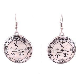 HL0016 vendimia nórdico forma redonda pendiente de la manera nueva plata del diseño amuleto y el color oro vikingo para mujer joyas pendiente Europa Americana
