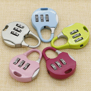 3 Digit Номер кода блокировки набора Padlock комбинации мини для багажа Zipper сумка рюкзак сумка Чемодан Ящика протектора FFA1756