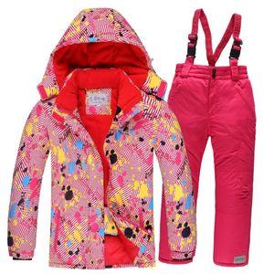 2020 Kids Ski Suit Children Windproof Waterproof Colorful Sport Suits for Girls Boy Snowboard Jacket Pants Winter Clothes Sets