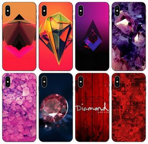[TongTrade] Red Wooden Diamond Case For iPhone 8 7 6s 5s Plus 11 Pro Max X XS Galaxy J7 S10 Huawei Mate 20 10 Lite HTC One M9 Silicone Case