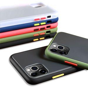 OPP Bag ile Şeffaf Cilt Darbeye Kılıfı Şeffaf Mat Hibrid PC TPU Telefon Kılıfı iPhone 11 Pro Max X XS