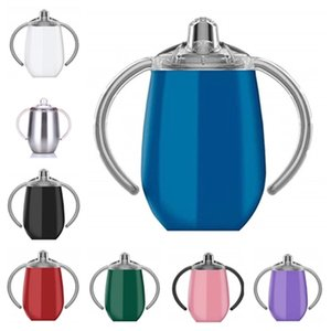 fashion Baby Pacifier Cup Shaped Stainless Steel 12oz nursing Bottle cup Coffee Mug Portable Insulated Tumbler water bottleT2I5783