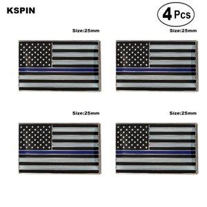 U. S. de Polícia, Azul Broches de Lapela Pin Bandeira insígnia Broche de Pins, Emblemas 4PC