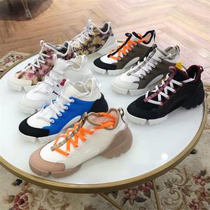 Womens Designer Hot Ligação Sneakers triple-s fita de gorgorão Sneakers Sneakers Retro Flores Multicolor Neoprene cinco centímetros sapatas do partido de casamento