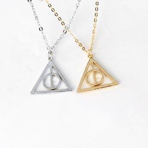 Catena 100PCS / LOT film di Harry Deathly Hallows la collana Nizza ruotato triangolo Collana girocollo Per womenmen Accessori