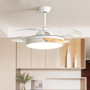 Modern Tavan Vantilatörleri Işıkları Ile Oturma Odası Için 42 Inç Uzaktan Kumanda Tavan Fanı Lamba 36 Inç Yatak Odası LED Vantilatör