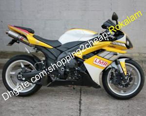 Carena Per Yamaha YZFR1 2007 2008 YZFR1 07 08 YZF R1 YZFR1000 kit carrozzeria carenature Aftermarket Giallo Bianco Nero (iniezione)