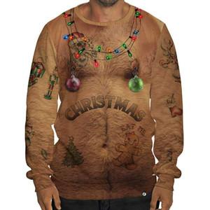 Designer Sweats à capuche Hommes Hoodies Designer Lumières de Noël Cerfs ELK 3D Print Sweatshirts Hommes de Noël pulls avec capuche