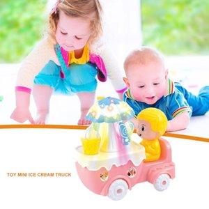 Crianças Ice Cream Doce Car Trolley Casa Battery Power Menina do presente Kids Play Toy luzes coloridas e música pop Estilo bonito