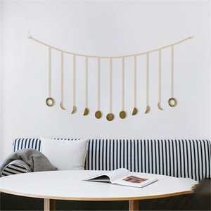 best selling 2019 products Moon Shining Phase Garland Decoration Chains Boho Gold Wall Hanging Ornaments support dropshipping