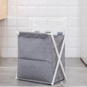 Simple Shape Household Folding Hamper Basket Bathroom Clothing Oxford Cloth Storage Basket