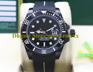 2 Farbuhren für Männer Männer Schwarz PVD Asien Mechanische Krone 116618 Uhr 116613 Sporttauchen 116610 Gummi B Strap Sub 116619 Armbanduhren