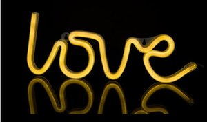 LED 네온 라이트 로그인 LOVE 웨딩 파티 장식 네온 램프 발렌타인 데이 기념 홈 인테리어 밤 램프 선물