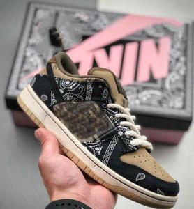 Travis Scott x SB Dunk Low progettista del Mens della tela di canapa Skateboard scarpe per le donne formatori des Chaussures Schuhe Zapatos Designers xshfbcl