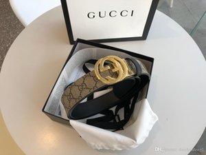 Fashion 4.0 cm di larghezza cintura d'argento oro in pelle fibbia in tela gli uomini con le cinture cinture box donne libere di trasporto 473.030 KGDHN 9769