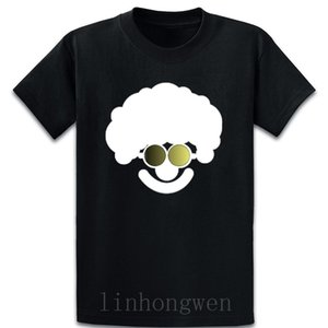 Funny Clown With Sunglasses In A Dark Design T Shirt Short Sleeve Breathable Over Size S-5XL Designer Cute Natural Trend