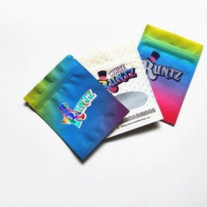 Odeur Hot Proof Sac Childproof de sac pochette blanche rose Runtz Holographic Paquet Runtz Paquet