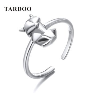 Nlm99 hot Tardoo 925 Silver Fox Shape Rings Lovely Animal Fox Party Cuff Rings Simple Design Cute Fox Rings Fine Jewelry For Women S18101002