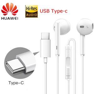 CM33 auricolare HUAWEI originale Type-C USB In Ear Headset Hearphone Mic Volume HUAWEI Mate 10Pro 20 x RS P20 30 Nota 10