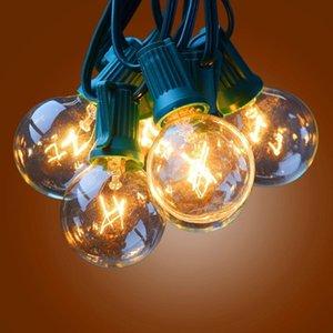 Outdoor DECRO 25ft globe clair G40 de lumières avec 25 G40 Ampoule de Noël LightsPatio Light cordes avec fusible à l'ampoule Protect