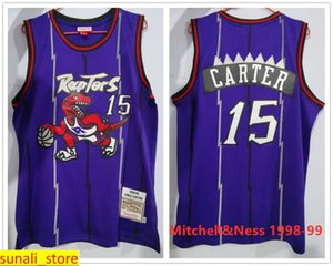 Sewed Man Kids Youth Tracy McGrady 1 Basketball Jerseys Vince Carter 15 Retro Purple White 1998-99 CNY Retro Limited Rat Years Shirts