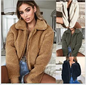 Fashion Hot women's autumn winter models lapel warm velvet lamb wool jacket coat women JACKET Outerwear Windbreaker jacket coats