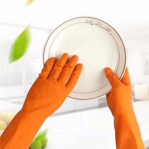 Guanti in lattice Impermeabile Lavori di casa Pulizia Inverno antiscivolo Lavaggio dei piatti Lavaggio Abiti Guanti in gomma per utensili da cucina di casa