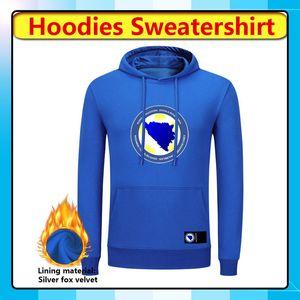 Bosnia-Erzegovina calcio Pullover Felpa con cappuccio, Bosnia-Erzegovina con cappuccio sweatershirt invernale a manica lunga Giacche in corso