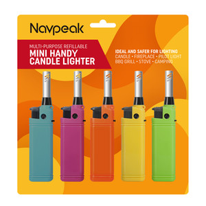 Navpeak 5 PACK Mini Candle Lighter Handy Refillable for Kitchen Fireplace Pilot Light BBQ Grill Stove