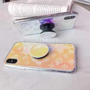 أنيقة حية التدرج الوظيفي اللون البنصر الدعامة حالة حامل الهاتف لفون برو 11 X XS MAX XR 8 7 زائد الغلاف 7Plus 8Plus